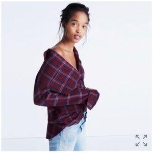 Madewell • Flannel classic ex boyfriend shirt